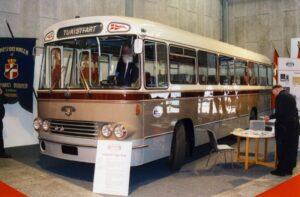 Vor udstillingsstand på Transportmessen i Herning i 2003, med Leyland-DAB årgang 1967.