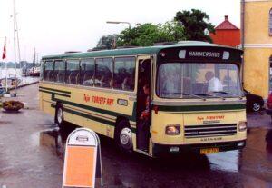Veteranbuskørsel i Skælskør i juni 2003 med Leyland-DAB årgang 1975.