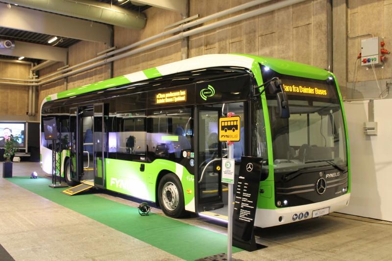 Tide Bus skal som forsøg for Fynbus køre elektrisk rutebil imellem Odense og Otterup. Hertil har man fået leveret denne Mercedes-Benz eCitaro.